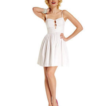 Marilyn Monroe Juniors Dress, Sleeveless Cutout A-Line - Juniors Marilyn Monroe - Macy's