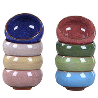 Colorful Round Ceramic Mini Flowerpot