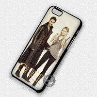 Captain Hook and Emma Swan Once Upon a Time - iPhone 7 6 5 SE Cases & Covers