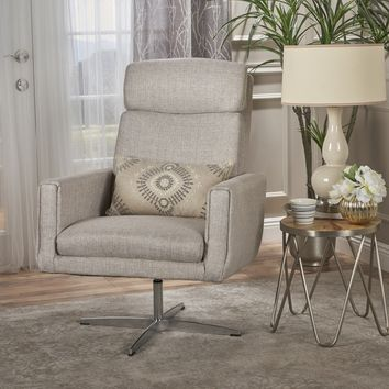 Hooper Modern Fabric Swivel Accent Chair
