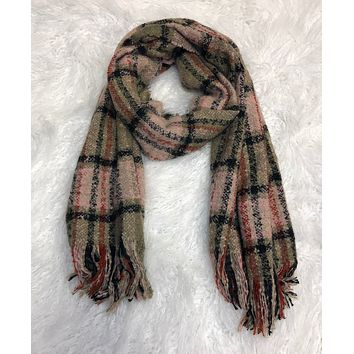 Warmer Style Pink Multi Scarf