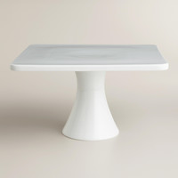 LARGE WHITE SQUARE CAKE STAND