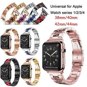 Stainless Steel Strap Link Bracelet For Apple Watch