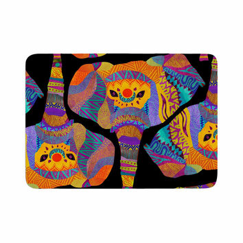 "Pom Graphic Design ""The Elephant In The Room"" Rainbow Tribal Memory Foam Bath Mat"
