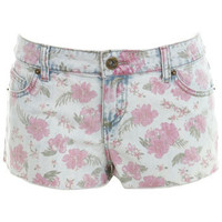 Pink Floral Hotpant - Jeans  Denim  - Clothing  - Miss Selfridge