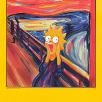 The Simpsons Lisa Scream Parody 1998 Poster 24x36