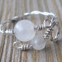 Handmade 925 Sterling Silver Rose Quartz Toe Ring 4 & 6mm Rose Quartz Beads 925 Sterling Silver Wire Adjustable Size Brand New
