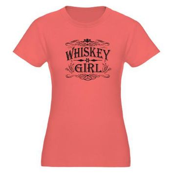 Vintage Whiskey Girl T-Shirt on CafePress.com