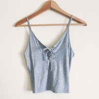 Kari Gray Lace Up Tank