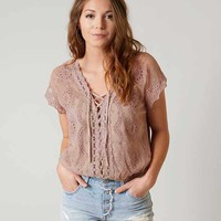 GIMMICKS LACE-UP TOP