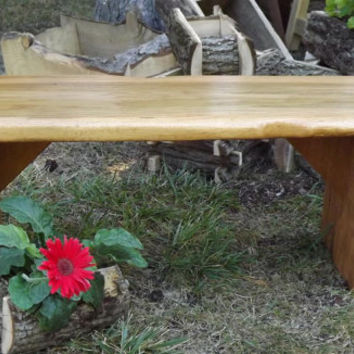 reclaimed wood/ bench/ coffee table /rustic / horse shoe/ white oak/