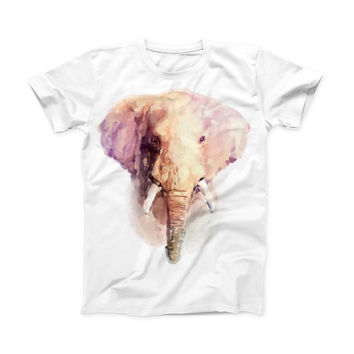 The Watercolor Animal Set ink-Fuzed Front Spot Graphic Unisex Soft-Fitted Tee Shirt