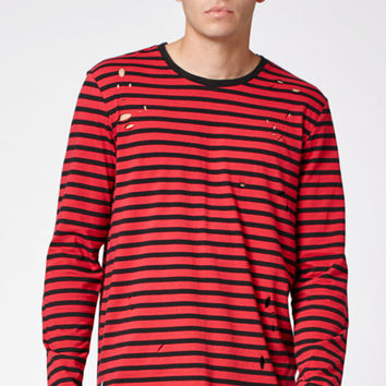 PacSun Brooklyn Destroyed Extended Length Scallop T-Shirt at PacSun.com