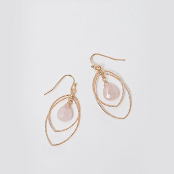 Julianne Pink Dangle Earrings