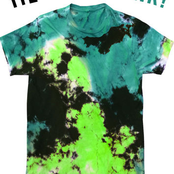 TEAL AND GREEN - TIE-DYE BLANK