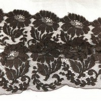 Antique Vintage Victorian Chantilly Lace Border Edge Embellish Goth Punk 2+ yds | NewMillenniumBeatnik - Weaving/Textiles on ArtFire