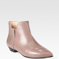 Belle by Sigerson Morrison - Cambell Metallic Leather Ankle Boots