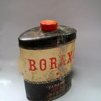 Vintage Boraxo Tin Powdered Hand Soap Distressed 1950s Retro Cleaning