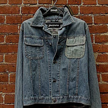 Schott NYC Chambray JACKET New With Tags RARE DESIGN