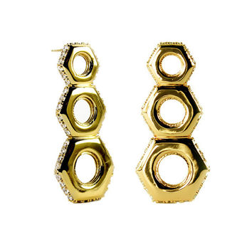 The Nut Drop Earring - Various Colors