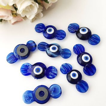 Glass evil eye magnet | blue candy evil eye magnet | blue fridge magnet