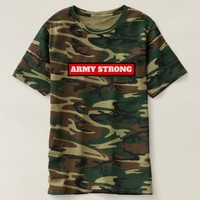 Army strong Camo t-shirt