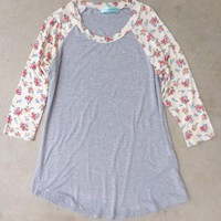 Floral Creek Raglan Shirt