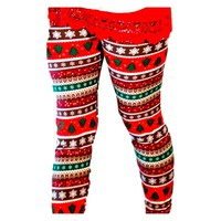 Christmas Snowflake Leggings, Red and Green