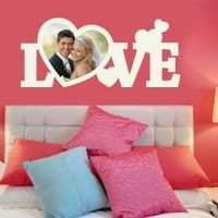 Love Picture Frame Wall Decal