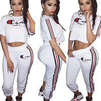 Fashion Printing Sports Two-Piece Pants