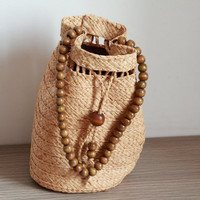 Ladies Hand-woven Straw Bag