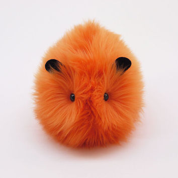 Little Pumpkin the Orange Halloween Guinea Pig Stuffed Animal Plush Toy - 5x8 Inches Medium Size