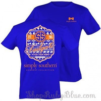 Simply Southern Blue and Orange Tailgate Collection Tee