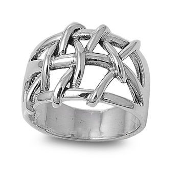 925 Sterling Silver Wicca Witchraft Knot 16MM Ring