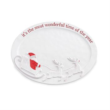 most wonderful time of the year Santa Platter