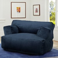 Navy Wide Wale Cord Eco Lounger