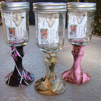 CAMO Redneck Wine Glasses by Liquidimagesinc on Etsy