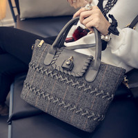 Winter Tote Bag Stylish Fashion One Shoulder Lock Messenger Bags [6582797255]