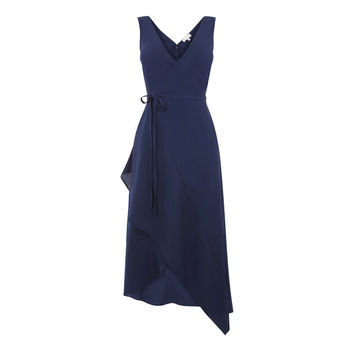 ASYMMETRIC WRAP CAMI DRESS