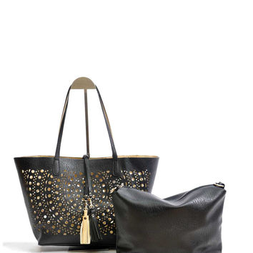 Laser Cut Reversible Tote Bag