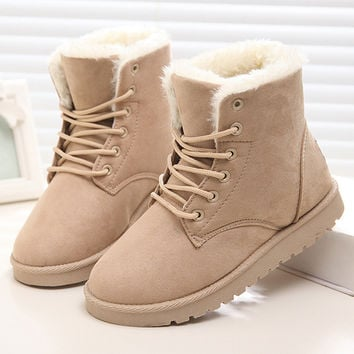 Harley Lace Up Winter Fur Lined Boots