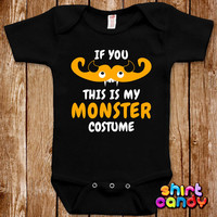 Baby Halloween Monster Costume One Piece Infant Bodysuit Funny Mustache Romper Joke Boy Girl Geek Adorable Cute Shower Gift Trick Or Treat