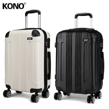 KONO 2 Pieces 28 Inch Rolling Luggage Suitcase Travel Trolley Check In Carry On Case Bag 4 Wheels Hard Shell Lightweight K1777L