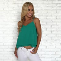 Take Two Blouse In Emerald Green