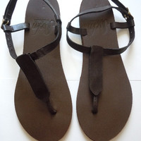 Sseko Leather T-Strap Sandals