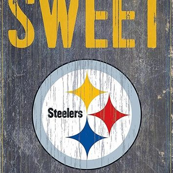 Pittsburgh Steelers Home Sweet Home Premium Wood Sign