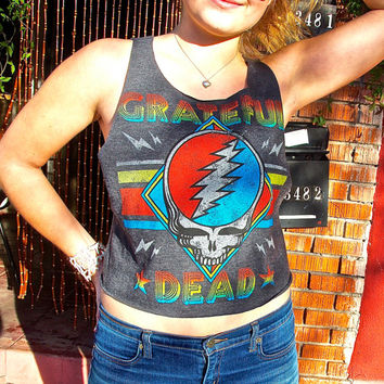 Cut Me Up Grateful Dead Tank Top Size Small