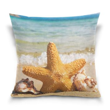 Starfish Pattern Couch Cushion Office Nap Hold Pillow Bedside Sofa Upscale Waist Pillow Back Pad