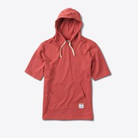 Speckle Hooded Shirt in Red