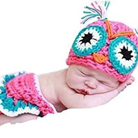 CX-queen® Newborn Owl Infant Baby Knit Crochet Handmade Photography Photo Props